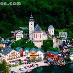 Pueblo de hallstatt en Austria