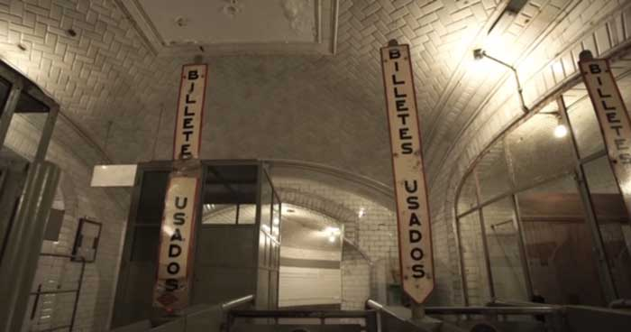 Museo del metro Chamberi en Madrid