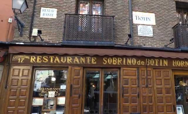 Restaurante Casa Botín en Madrid