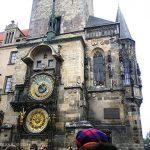 Vista principal del reloj astronómico de Praga